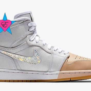 Crystal Rhinestone Women Nike Air Jordan Retro 1