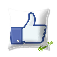 Facebook Like This Square Pillow Cover
