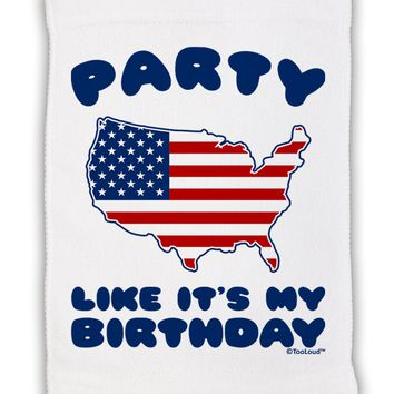 "Party Like It's My Birthday - 4th of July Micro Terry Sport Towel 11""x18"