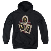 VAMPIRE DIARIES/HOLY CARDS-YOUTH PULL-OVER HOODIE - BLACK -