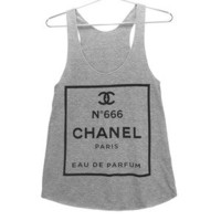 Killer Condo — ChanHELL no. 666 Parody Women's Tank | Black on Grey