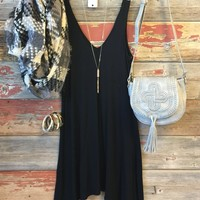 Keep it Casual Dress: Black