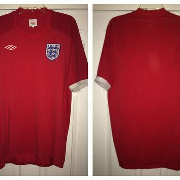 Sale!! Vintage ENGLAND Soccer Jersey UMBRO Football Jersey