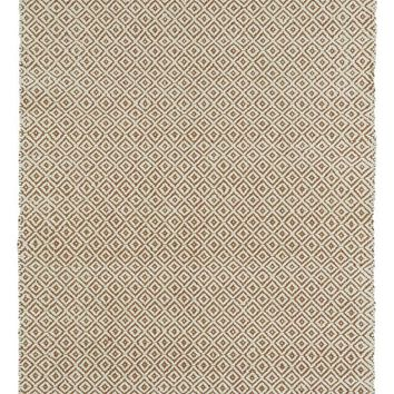 Multi Diamond Rug in Jute + Felted Wool
