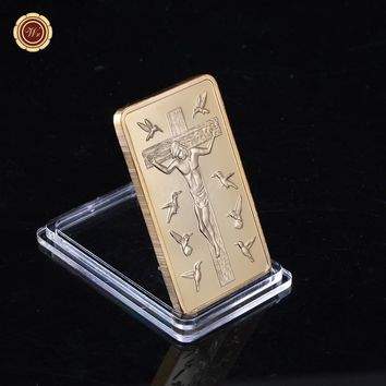 "Christians souvenir one troy ounce ""Ten Commandments"" Jesus was crucified 24k gold bar"