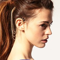 ASOS   ASOS Spike Ear Cuff And Comb at ASOS