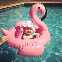 For 8-24 months Baby Pink Flamingo Swimming Ring