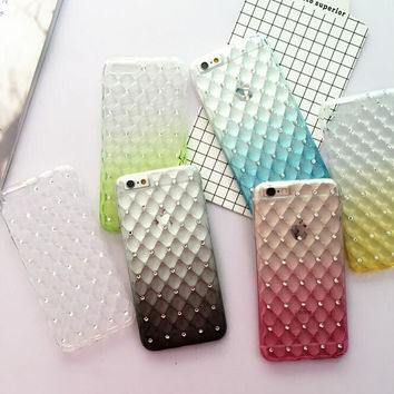 Original Gradient Diamond iPhone 5s 6 6s Plus creative case Cover Gift-112