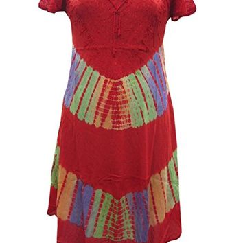 Woman's Beach Coverups Boho Embroidered Rayon Dresses Brick Red: Amazon.ca: Clothing & Accessories