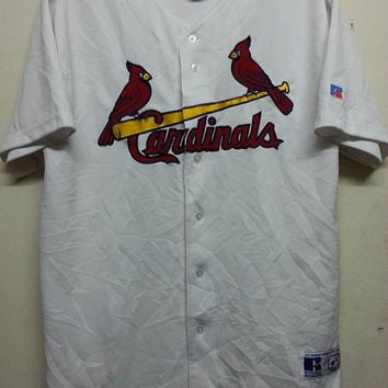 sale Vintage 1990s Cardinals Russell Athletic Baseball Jersey Mlb -XL