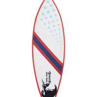 Wooden Surfboard-Red Line (79x24x10)
