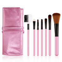 Convenient Professional 7pcs Makeup Brushes Set Cosmetic Tool Beauty Pink