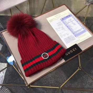 GUCCI Fashion Rhinestone Beanies Knit Winter Hat Cap