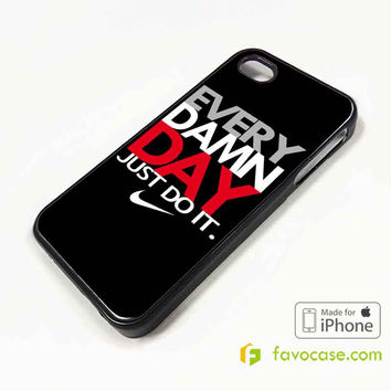 EVERY DAMN DAY 1 Nike Just Do It iPhone 4/4S 5/5S 5C 6 6 Plus Case Cover