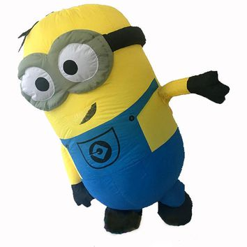 Cosplay Party Inflatable Adult Minion Costume Halloween Despicable Me christmas Mascot Men Women Fancy Dress Cloths Jumpsuit