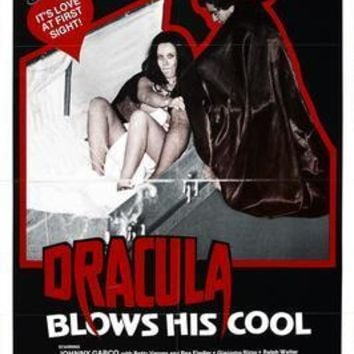 Dracula Blows His Cool movie poster Sign 8in x 12in