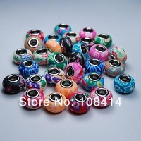 Charms 20PCS/Lot Mixed Color Soft Fimo Polymer Clay fit for Pandora European Bracelet and Necklace Beads