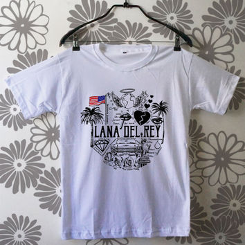 Lana del rey shirt black and white lana del rey tshirt JN19