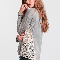 Ready For Liftoff Crochet Top In Gray