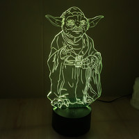 Gradient Starwars LED New Arrival Colorful 3D Multi-color Lamp = 5826239297