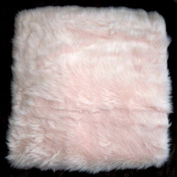 Furry pretty in pink pillow