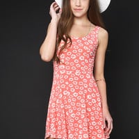 Floral Pattern Flare Dress