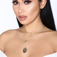 Golden Waterfalls Necklace - Gold