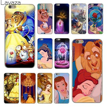 Lavaza Beauty And The Beast Hard Clear Skin Cover Case for Apple iPhone 6 6S 6 S Back Phone Case Coque Shell