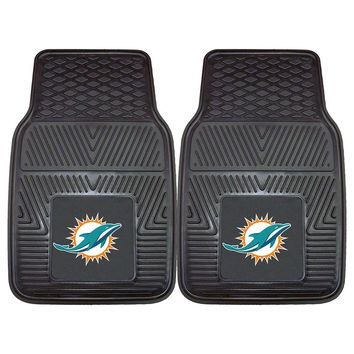 Miami Dolphins NFL Heavy Duty 2-Piece Vinyl Car Mats (18x27)