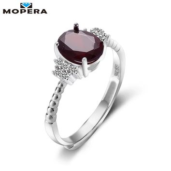 Vintage Jewelry 1.5ct 100% Natural Garnet 925 Sterling Silver Ring Cut Purple Stone Women Wedding Anel Aneis Gemstone Rings