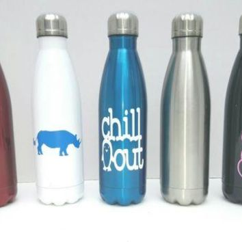 Personalized 17oz Water Bottle Stainless Steel Sport Container Customize it!