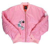 BADGE JACKET / LIGHT PINK - JOYRICH Store