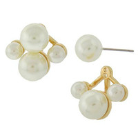 Adorn by LuLu - Gold and Cream Luxury Ear Jackets