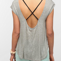 Daydreamer LA Cross-Back Contrast Pocket Tee