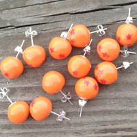 Dragonball Earrings  by APunchInTheArt on Etsy
