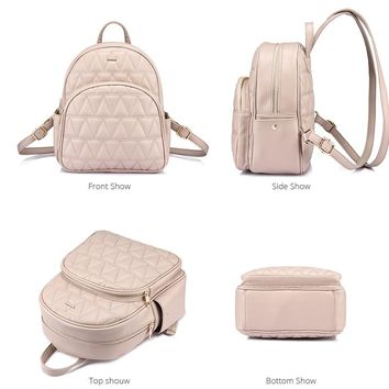 Women PU leather backpack female crossbody bag purse for coins bag