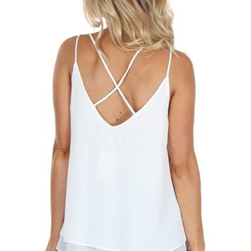 Layered Cami Blouse White