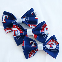 Texas Rangers Clip-On Bow