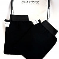 2 Polished Mittens + Zena Foster Clear PVC Cosmetic Bag