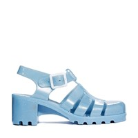 Juju Babe Pearl Blue Glitter Exclusive Heeled Sandals