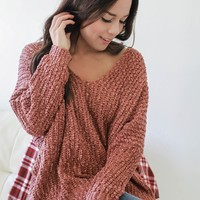 Hang With Me Sweater - Copper