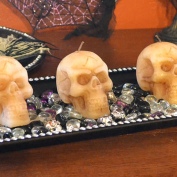 Skull Candle for Halloween parties table centerpieces or wedding receptions