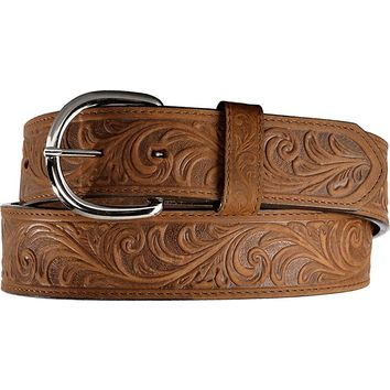 Silvercreek Men's Western Hand Tooled Leather Belt - 53909