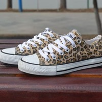 Leopard Control Casual Canvas Shoes A 091034