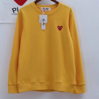 PLAY Fashion Casual Long Sleeve Round Neck Pullover Sweater