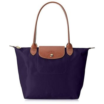 ONETOW Longchamp Le Pliage Bilberrry Purple Nylon Foldable Tote Bag