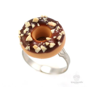 Scented Chocolate Nut Donut Ring
