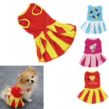Hot sale dog clothes winter 2015 small dog clothes Puppy Mini Dress Apparel cachorro XT