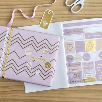 DIY STICKER BOOK: LIVE BRIGHT - Planners - Diaries & Calendars