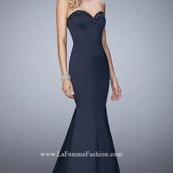 Mermaid Stretch Satin Gown by La Femme